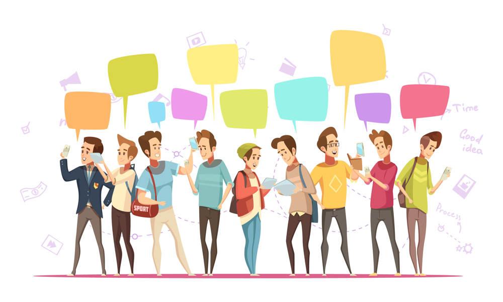 Jugendliche im Umgang mit Handys